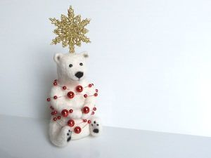 Белый Мишка готов к Новому Году!. Ярмарка Мастеров - ручная работа, handmade.
