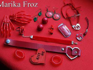 Красный цвет в украшениях. | Ярмарка Мастеров - ручная работа, handmade