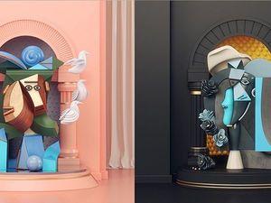 3D и Пабло Пикассо. Ярмарка Мастеров - ручная работа, handmade.