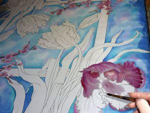 Новинка!!! Шёлковый платок батик Весна Натуральный шёлк Ручная работа 112-112 см. Ярмарка Мастеров - ручная работа, handmade.