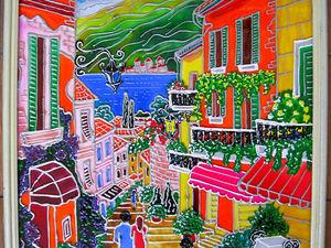 Витражные картины на тему городских пейзажей | Ярмарка Мастеров - ручная работа, handmade