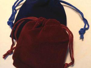 Есть бархатные мешочки для поштучной продажи: чёрный, синий, бордовый. Ярмарка Мастеров - ручная работа, handmade.
