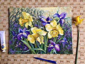 Аукцион открыт! Картина маслом «Радость весны». Ярмарка Мастеров - ручная работа, handmade.