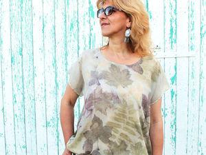 """Блуза """"Краски лета"""" — фото. Ярмарка Мастеров - ручная работа, handmade."""