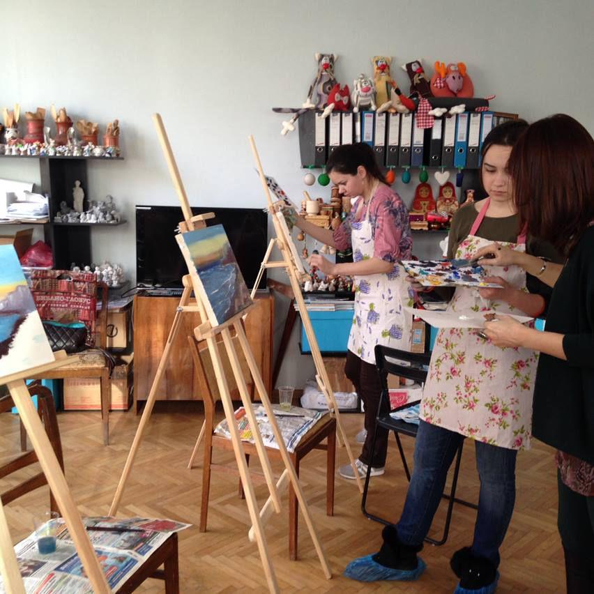 мастер-класс, мастер-класс по живописи, масляная живопись, морской пейзаж, горный пейзаж, картина маслом, картина, живопись мастихином