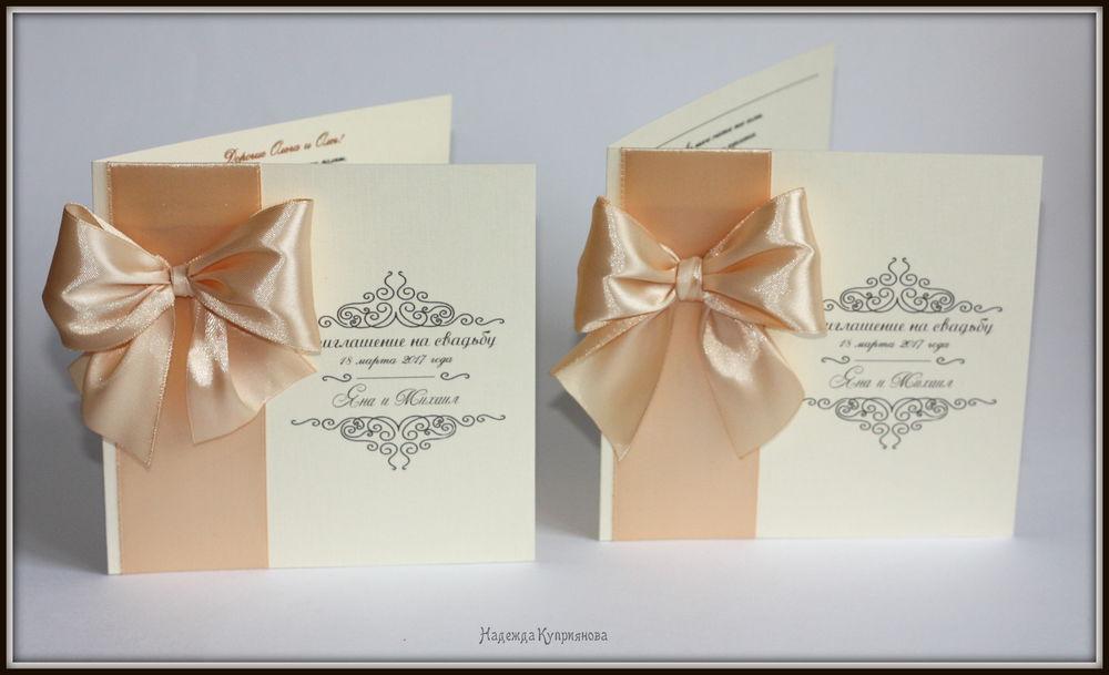 свадебные приглашения, приглашения ручной работы