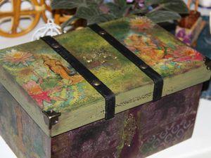 Декорируем деревянный короб в индийском стиле. Ярмарка Мастеров - ручная работа, handmade.