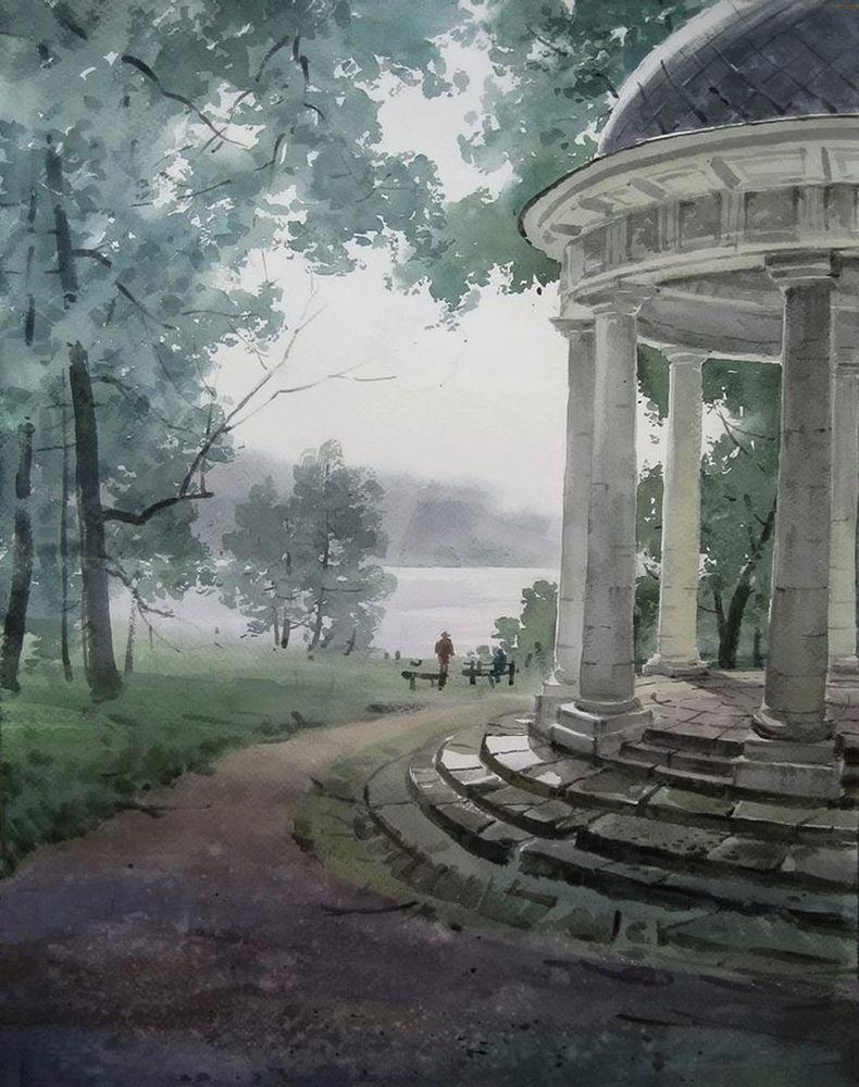 Акварельные пейзажи художника Ильи Горгоца, фото № 33