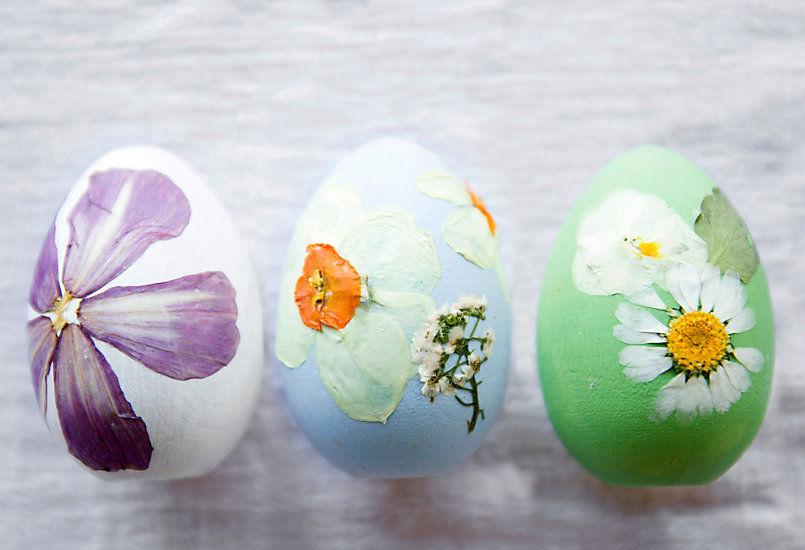 гербарий, пасхальные яйца с гербарием