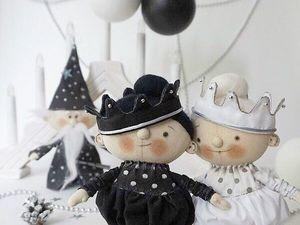 Черно-белый Новый Год!. Ярмарка Мастеров - ручная работа, handmade.