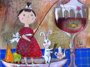 Сказка и фантазия в работах современной художницы Анны Силивончик. Ярмарка Мастеров - ручная работа, handmade.
