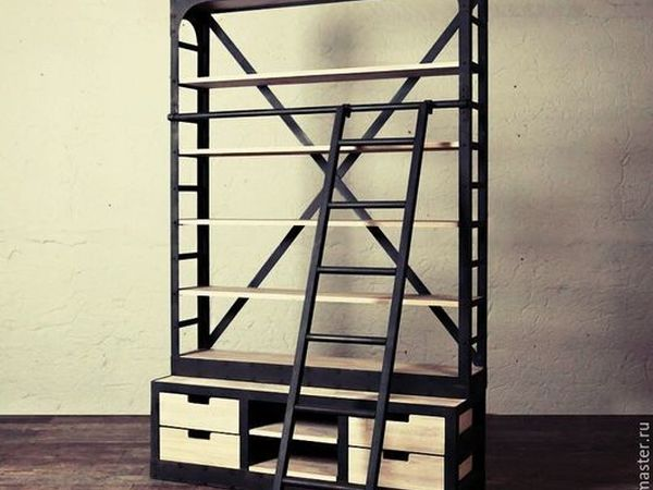 Дизайнерский стеллаж лофт арт.177 - на Главной! | Ярмарка Мастеров - ручная работа, handmade