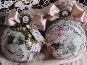 Декорируем новогодний шар в технике декупаж. Ярмарка Мастеров - ручная работа, handmade.