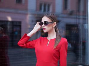 Аукцион Красное  Платье!!! Red Dry Wine Эксклюзив !!!  Старт 3000 Шаг 300. Ярмарка Мастеров - ручная работа, handmade.