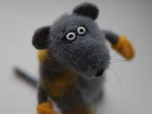Мышь Зимний. Ярмарка Мастеров - ручная работа, handmade.