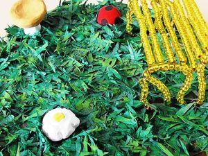 Как сделать декоративную траву из бумаги: видео мастер-класс. Ярмарка Мастеров - ручная работа, handmade.