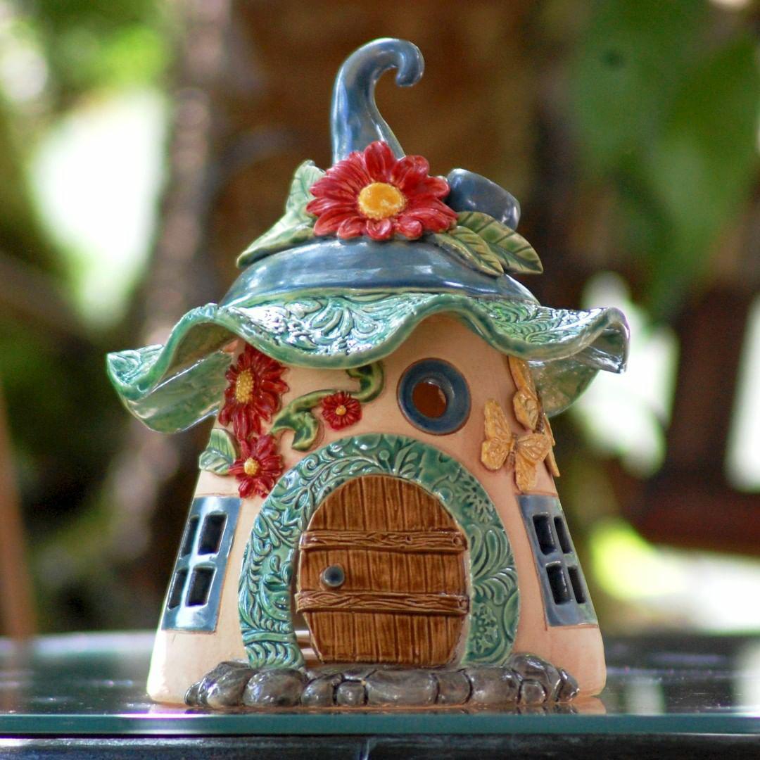 Домики для фей: волшебные керамические подсвечники Antje Rosemann, фото № 21