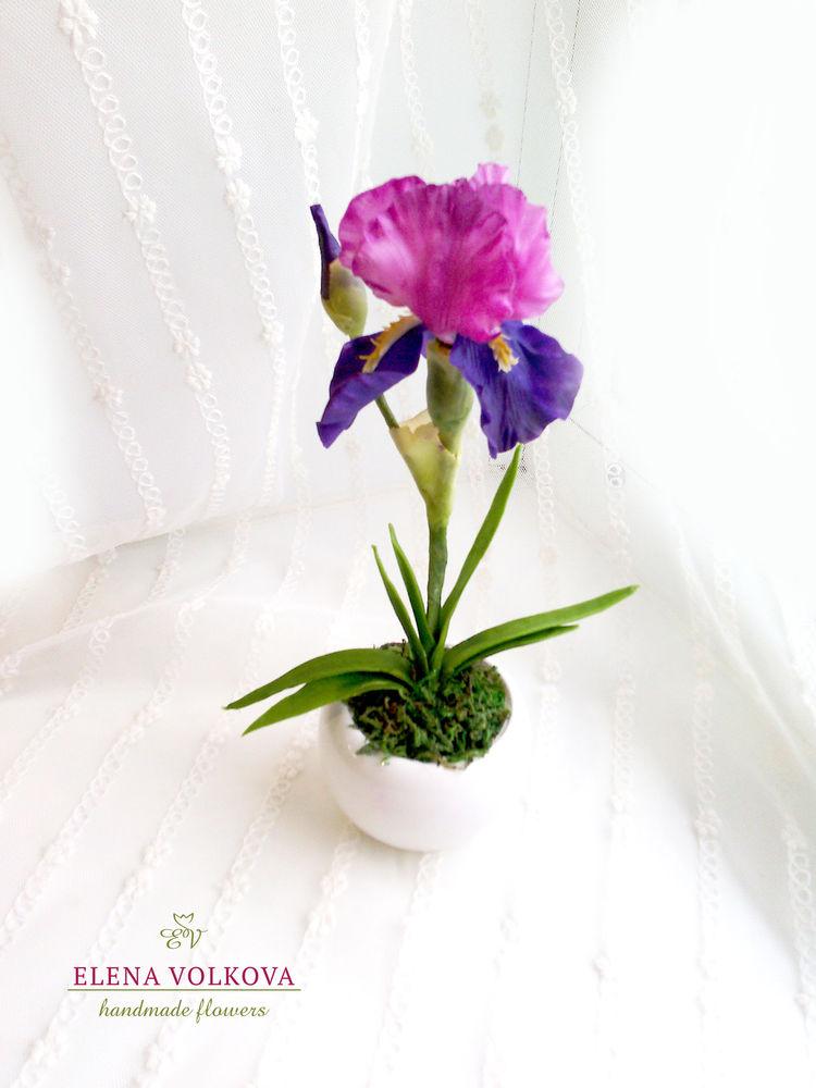 цветы полимерной глины