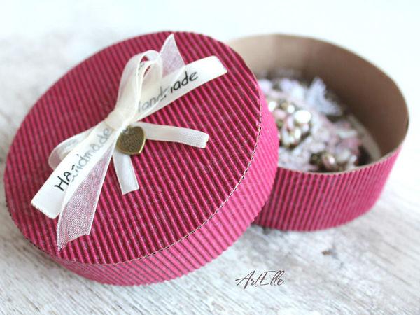 How to Make a Gift Box of Corrugated Cardboard | Livemaster - handmade