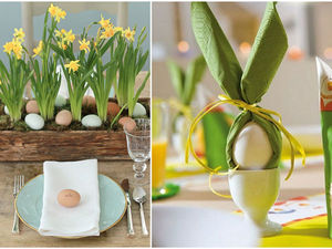 Such a Spring, Bright and Sunny Easter Table Setting. Livemaster - handmade