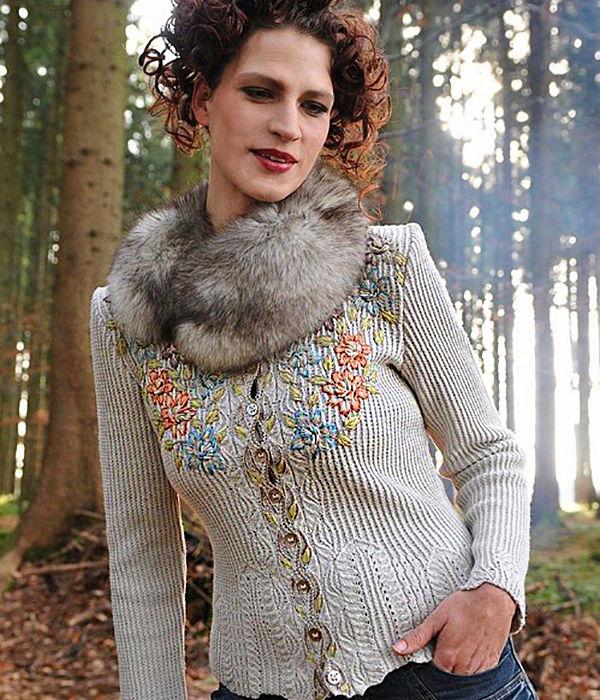 体现女性美的针织品刺绣 - maomao - 我随心动