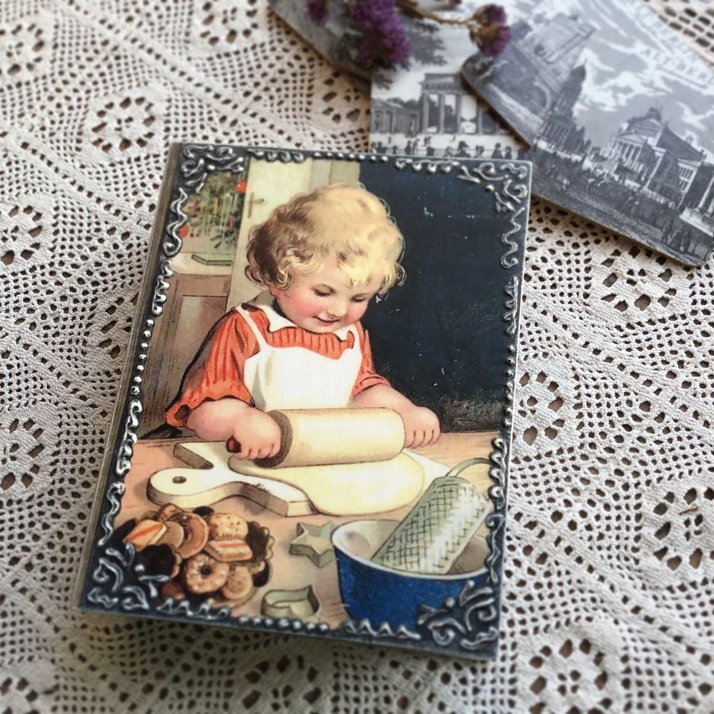 винтаж, шкатулка - книга, мамина радость, home