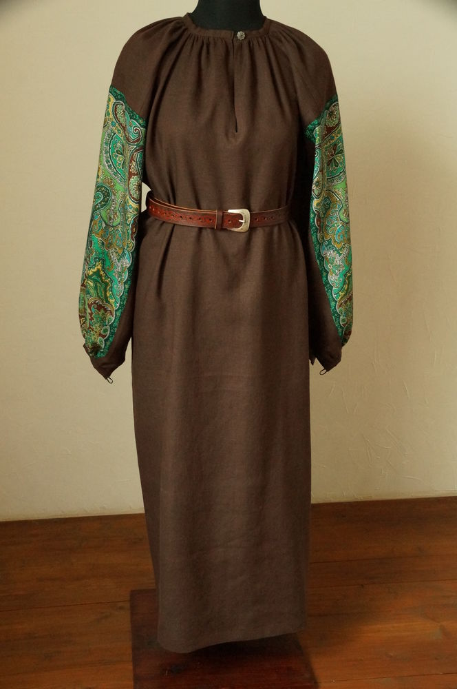павловопосадский, русская зима, русская рубаха, для дома, подарок девушке женщине, традиции