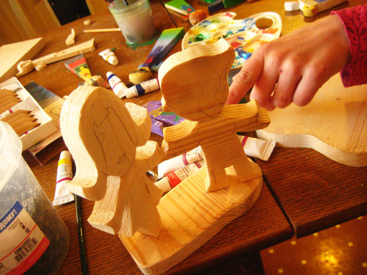 Разрисовываем деревянные поделки 32