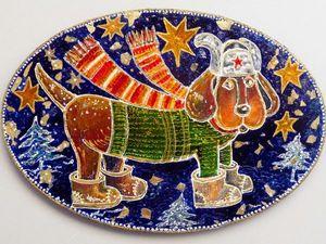 Встречать Год Собаки готов. Ярмарка Мастеров - ручная работа, handmade.