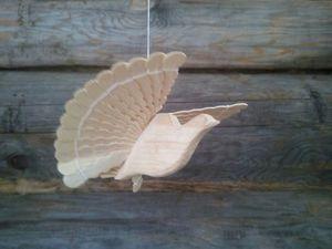 Щепная птица - поморский голубок | Ярмарка Мастеров - ручная работа, handmade