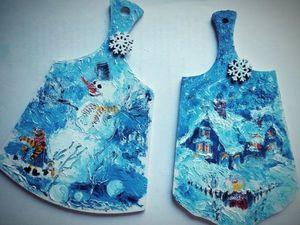 Готовим новогодние сувенирные дощечки. Ярмарка Мастеров - ручная работа, handmade.