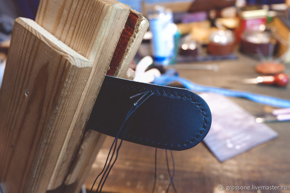 Step-by-step Tutorial for a Stitched Belt of English Bridle Leather, фото № 15