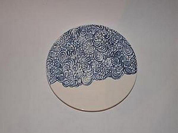 Кружевная тарелка. На фото-работа ученицы   Ярмарка Мастеров - ручная работа, handmade