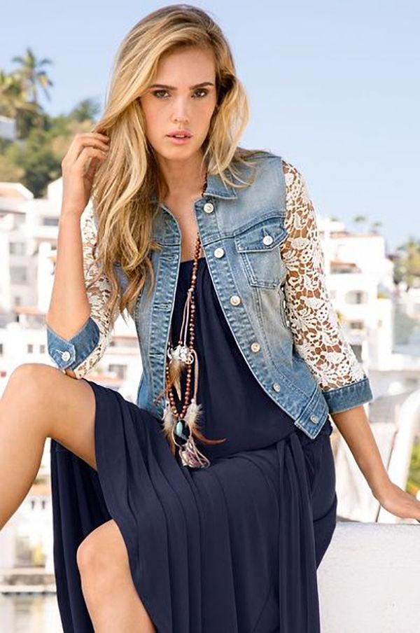Многообразный декор джинсовых курток: 50 интересных вариантов, фото № 45