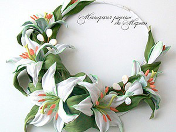 DIY Necklace for a Bride: Tenderness of Lilies | Livemaster - handmade