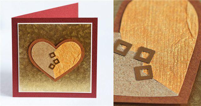 открытка, сердце