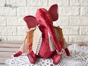 Скидка на слона тедди 50%. Ярмарка Мастеров - ручная работа, handmade.