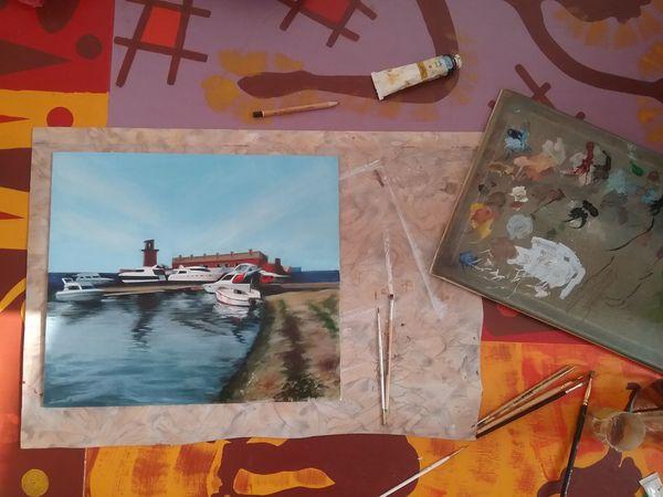 Учусь рисовать море   Ярмарка Мастеров - ручная работа, handmade