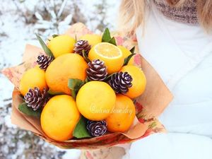DIY Christmas Bouquet of Tangerines. Livemaster - handmade
