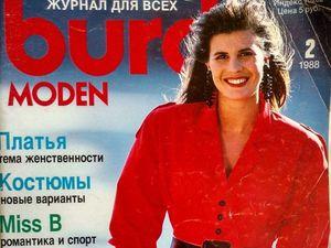 Burda Moden № 2/1988, Технические рисунки. Ярмарка Мастеров - ручная работа, handmade.