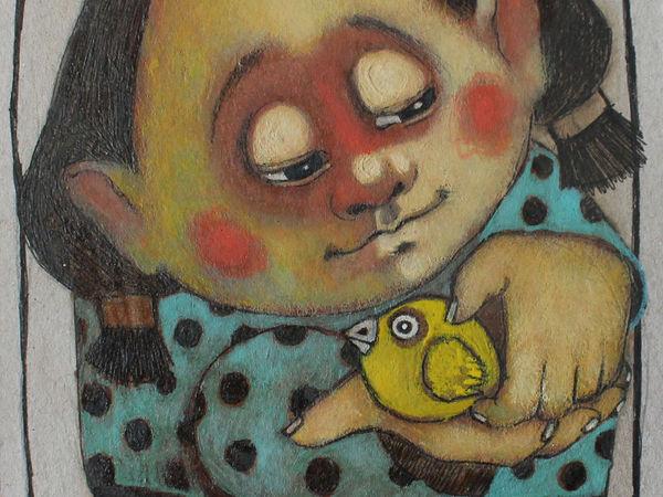 Девочка с птицей | Ярмарка Мастеров - ручная работа, handmade