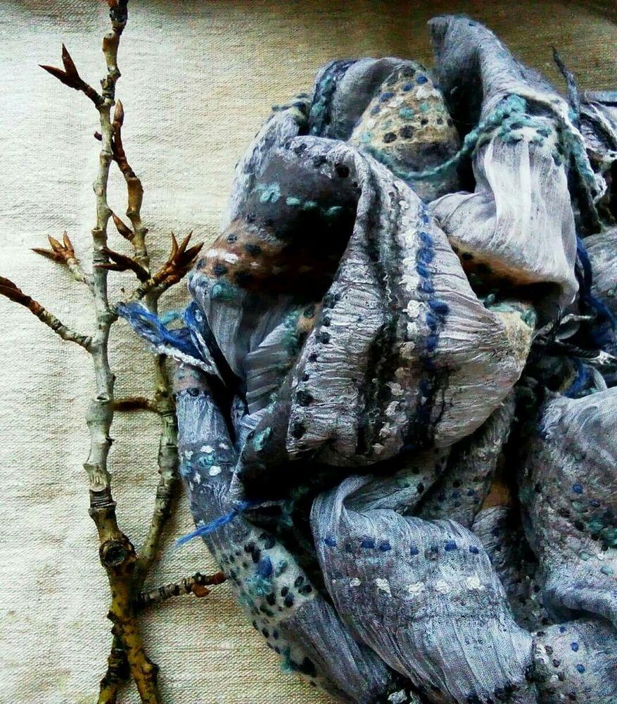 авторская работа, эксклюзивный, подарок для женщины, бохо шарф