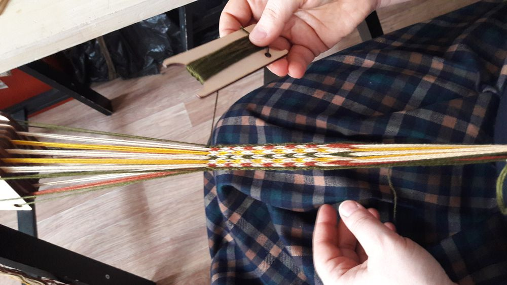 мастер-класс, ткачество поясов