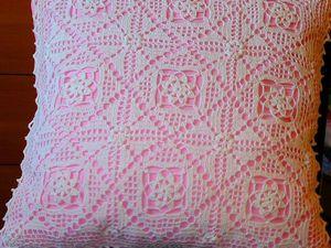 Ещё одна новинка — подушка с кружевом. Ярмарка Мастеров - ручная работа, handmade.