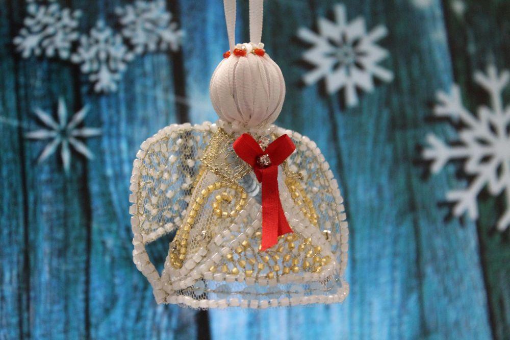 люневильская вышивка, вышивка, вышивка бисером, ангел, рождественский ангел, обучение вышивке