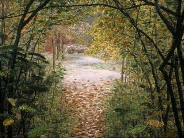 Чувство безвременья в вышитых пейзажах художницы по текстилю Linda Behar | Ярмарка Мастеров - ручная работа, handmade
