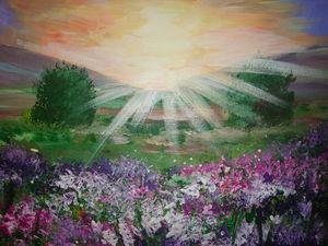 Рисуем картину «Рассвет в горах». Ярмарка Мастеров - ручная работа, handmade.