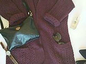 Аукцион на меланжевый кардиган из итальянской шерсти,цвета баклажан!Старт 3500!. Ярмарка Мастеров - ручная работа, handmade.
