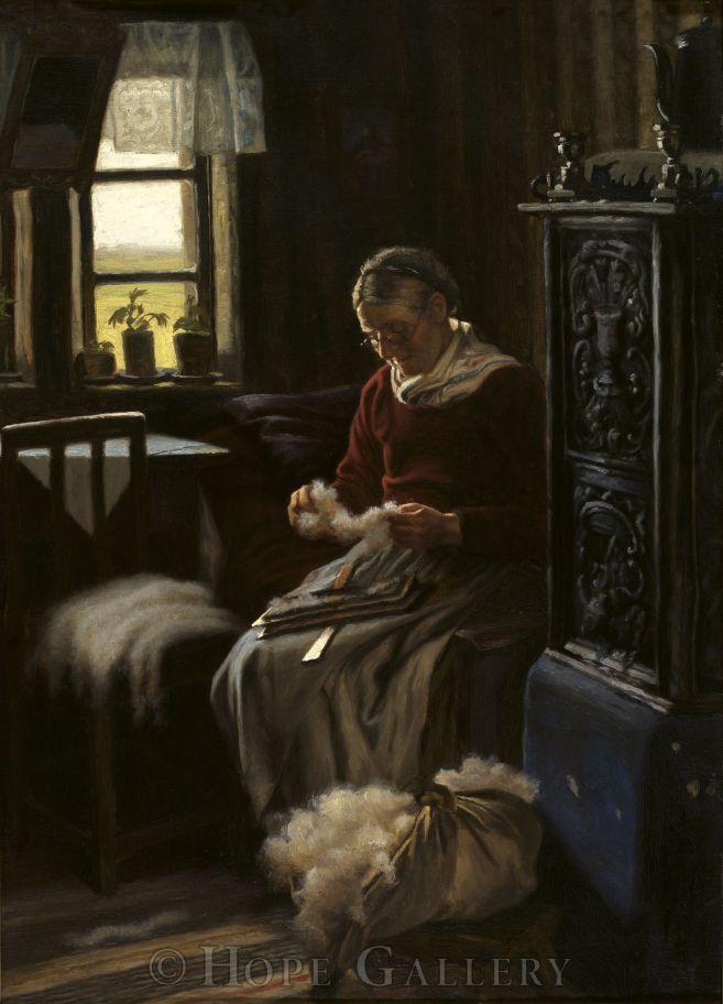 Когда есть чем заняться — стареть некогда: душевные картины о бабушках-рукодельницах, фото № 22