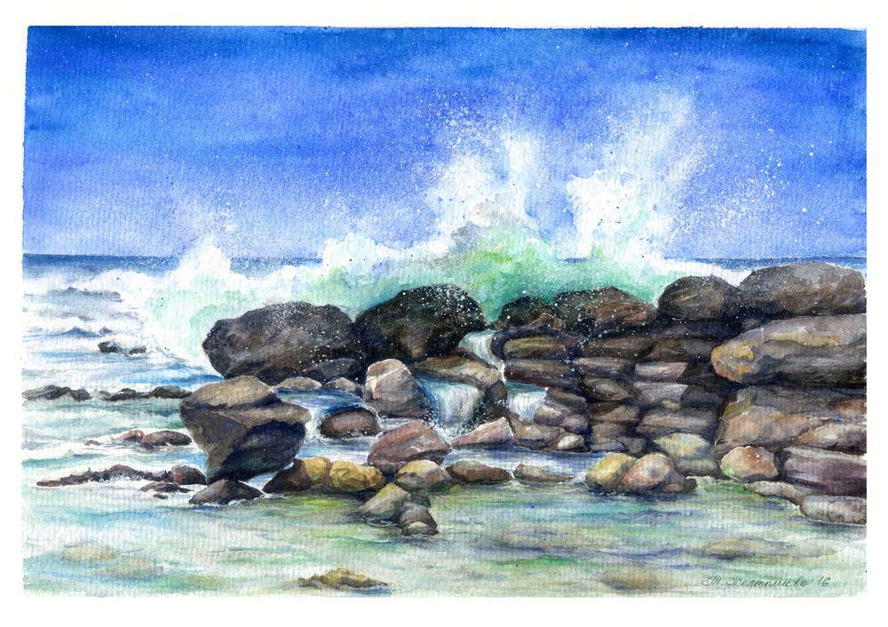 морские картины, волны
